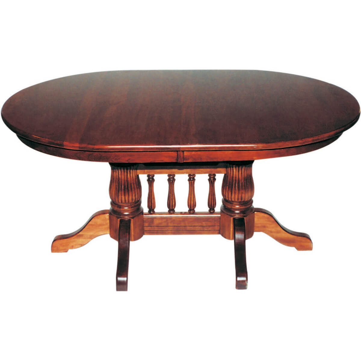 Tulip Double Pedestal Extension Table